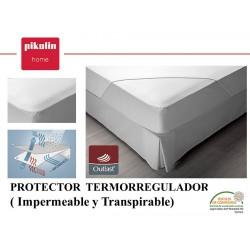Protector colchón no acolchado Termorregulador Impermeable