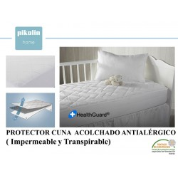 PROTECTOR COLCHÓN CUNA ACOLCHADO ANTIALERGICO 100% ALGODON