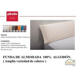 FUNDA ALMOHADA 100% ALGODÓN ANCHO 50