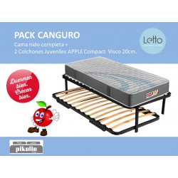 PACK CANGURO SOMIER/COLCHON APPLE COMPAC GRUPO PIKOLIN