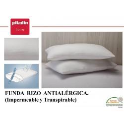 Funda de Almohada Rizo Antialérgica Impermeable