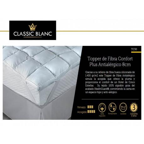 Topper Fibra Confort Plus Antialérgico 8 cm