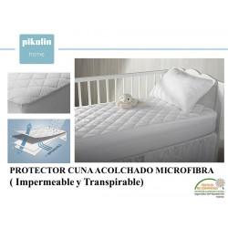 PROTECTOR COLCHÓN ACOLCHADO CUNA MICROFIBRA