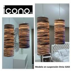 CONJUNTO LAMPARAS SUSPENSION ETNIA ICONO