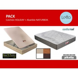 PACK COLCHON HOLIDAY Y ABATIBLE NATURBOX PIKOLIN