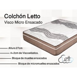 COLCHON VISCO MICROENSACADO