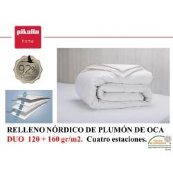Relleno Nórdico Plumón 92% DUO 160+120 gr.