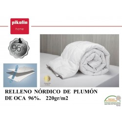 Relleno Nórdico Plumón 96% 220 gr.