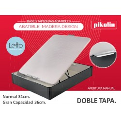 CANAPE ABATIBLE DESIGN MADERA TAPA DOBLE PIKOLIN
