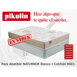 PACK ABATIBLE NATURBOX + COLCHÓN RACE