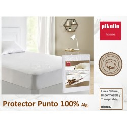 Protector colchón no acolchado Punto algodón Impermeable