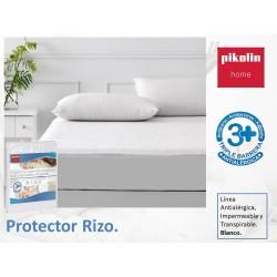 Protector colchón no acolchado Rizo algodón Antialérgico Impermeable
