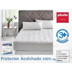 Protector colchón acolchado Algodón antialérgico impermeable