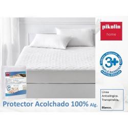 Protector colchón acolchado Algodón Antialérgico