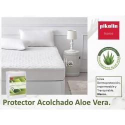Protector Acolchado Aloe vera Microfibra Transpirable